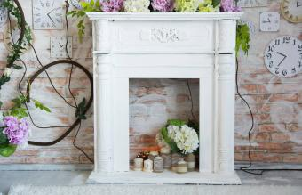 Hydrangea and Fabric Wrapped Candles