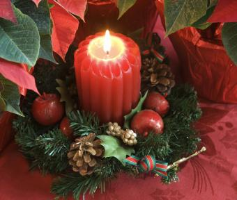 Candle Ring Christmas decor