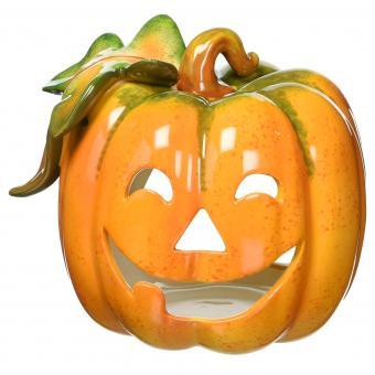 Porcelain Pumpkin Tea Light Holder