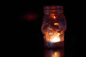 Candle in a shape of a skull