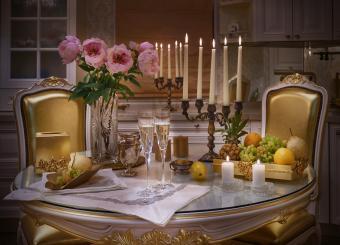 Candelabrum romantic dinner
