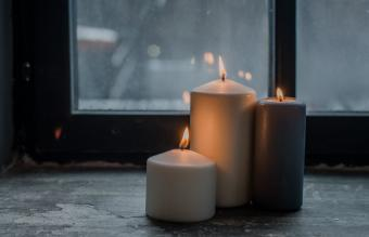 Candles By Window