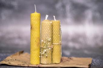 Beautiful handmade beeswax candles