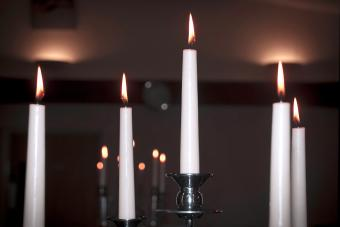Set of 5 taper candles