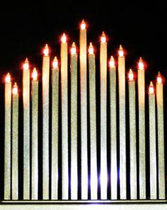 Battery operated candles are a safe alternative