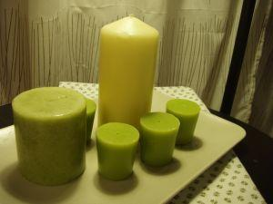 Bayberry candles have a sage green color