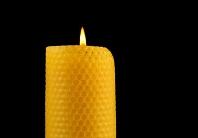 Beeswax candles burn slowly.