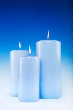 Blue candles represent water