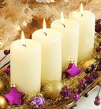Line of Pillar Candles