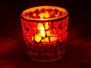 Mosaic candles make an attractive gift