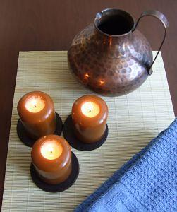 Make rustic looking candles