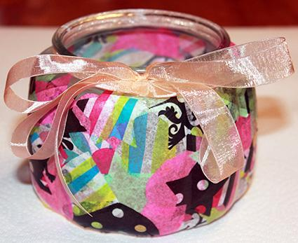 decoupage tealight candle holder