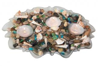 seaside shell centerpiece