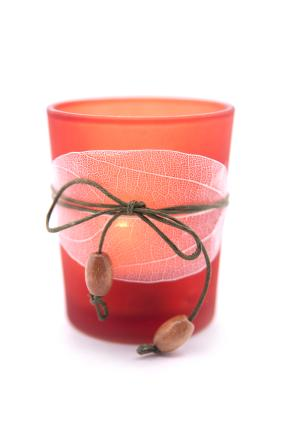 embellished votive container
