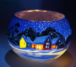 Winter Village Candle Holder