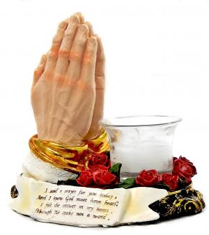 Praying Hands Votive Candle Holder from Amazon.com