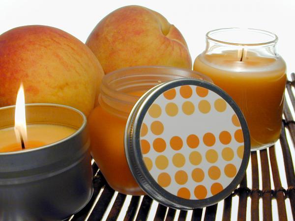 peach candles