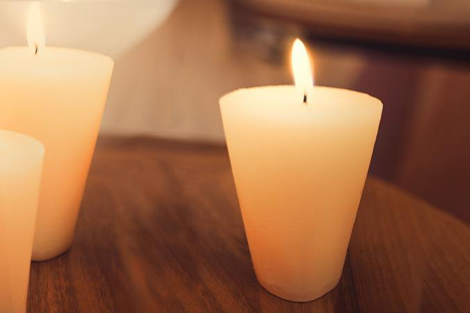 Sugar cone candles