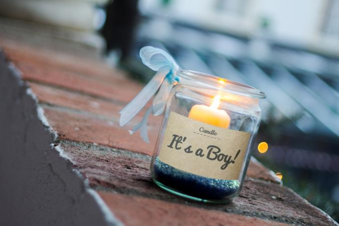 It's a Boy Baby Candle