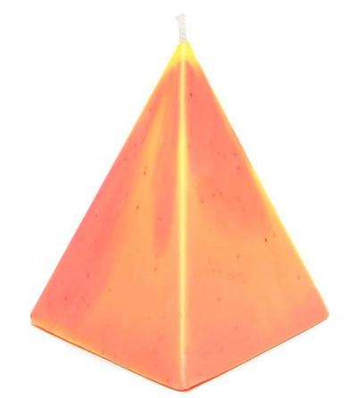 Medium Pyramid Treasure Candle - Sunset
