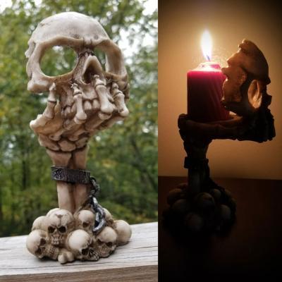 Skull tealight candle holder