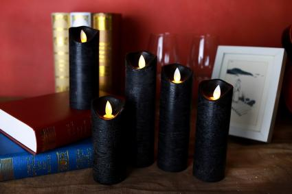 Kitch Aroma black flameless candles