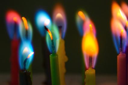 Close-Up Of Colourful Candles