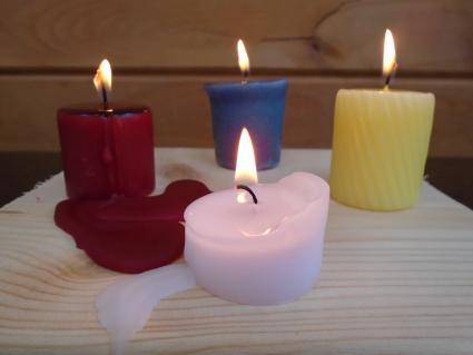 Votive Candles After One Hour Burning