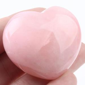 Healing Rose Quartz Heart Stone