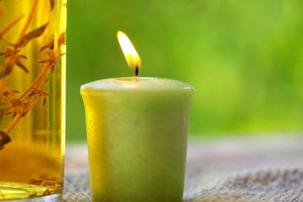 Candle and oil
