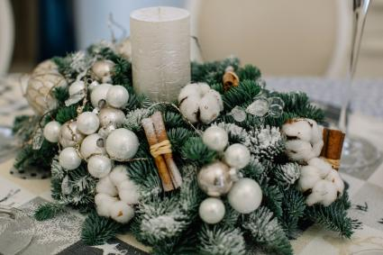 Christmas decoration on a table