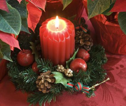 Candle Ring Christmas decor