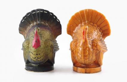 vintage Gurley turkey candles