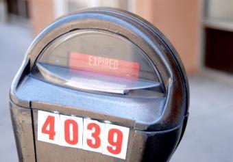 urban parking meter