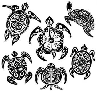 Hawaiian Turtle Car Stickers