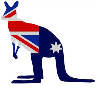 Kangaroo Car Stickers Australia