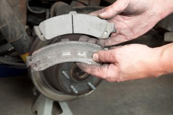 worn and new brakes