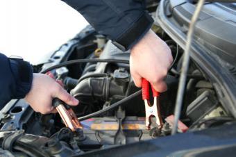 jumping car battery