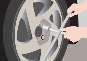 Removing wheel lug nuts