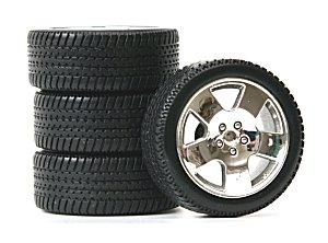 Photo of a set of four new tires