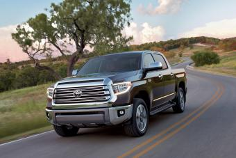 2018 Toyota Tundra driving on road