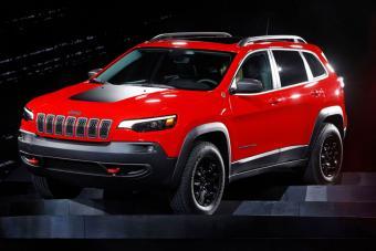 2019 Jeep Cherokee on display