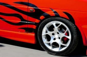 car with custom decal