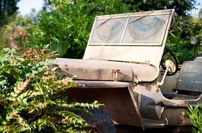 camoflaged jeep