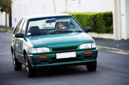 woman in hatchback