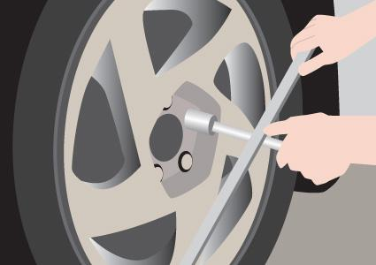 Removing wheel lug nuts
