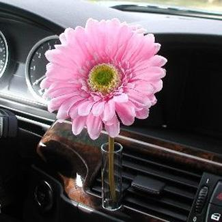 Auto Vase with a Pink Flower from CarDecor.com