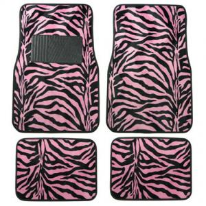 Zebra Pink Floor Mat Set from CarDecor