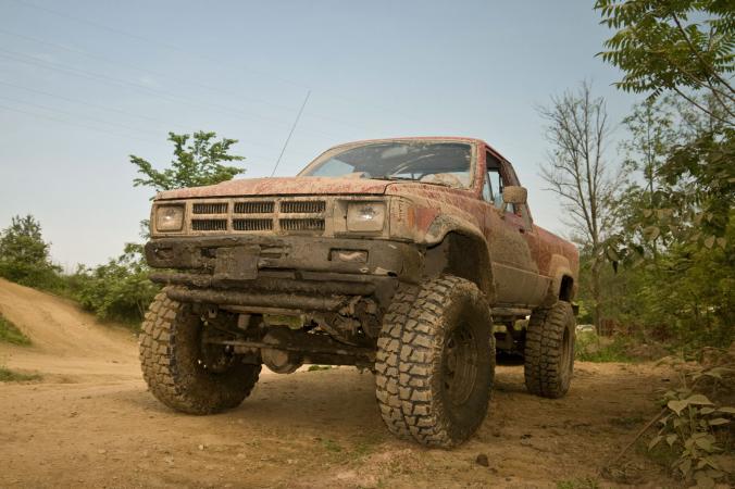 1984 muddy toyota pickup truck