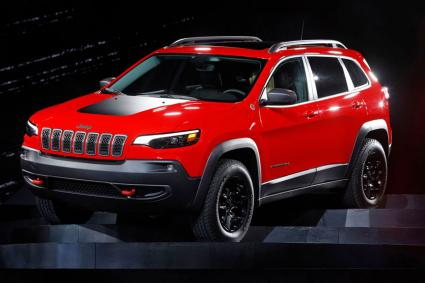 2019 Jeep Cherokee on display